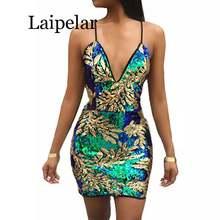 Laipelar сексуальное Золотое зеленое платье с блестками 2019