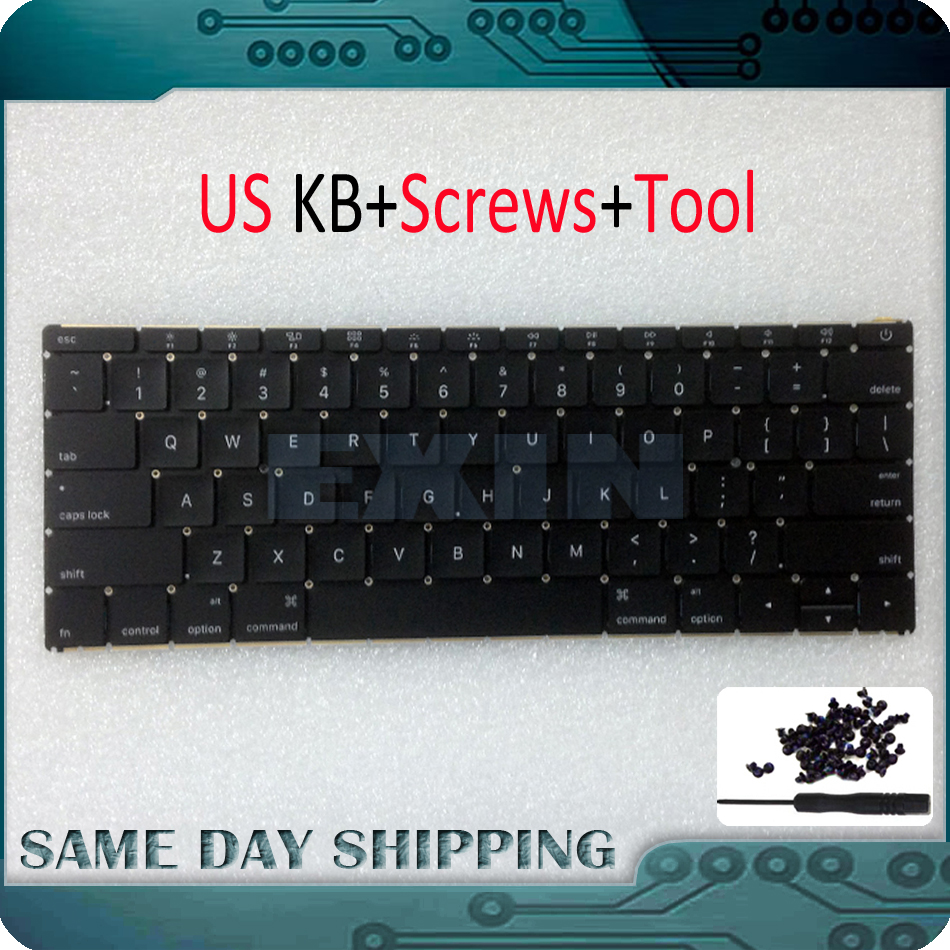 Original New Laptop A1534 US Keyboard for MacBook Retina 12 A1534 US Keyboard with Backlight MF855LL/A MF865LL/A Early 2015 new topcase with tr turkish turkey keyboard for macbook air 11 6 a1465 2013 2015 years