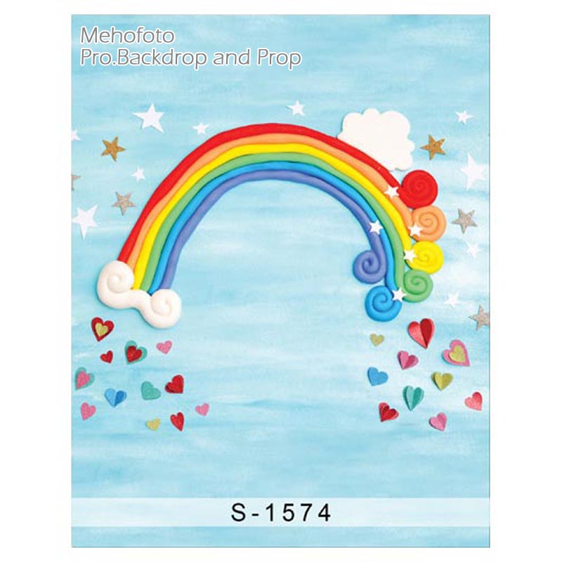 Colours Of The Rainbow Backgrounds for sale Vinyl cloth High quality Computer printed newborns backdrop