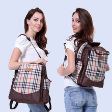 Neu!! plaid baby wickeltasche mama rucksack große kapazität mutterschaft mummy windeltasche mutter handtasche multifunktionale kinderwagen tasche