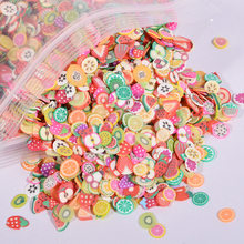 10000Pcs Fruit slices Filler For Nails Art Tips Slime Fruit For Kid Lizun DIY slime Accessories Supplies Decoration Soft pottery(China)