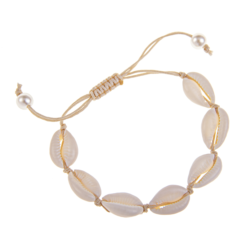 Natural Shell Bracelet Summer Beach Accessories Lady 39 s Birthday Gift Jewelry Bracelet in Chain amp Link Bracelets from Jewelry amp Accessories