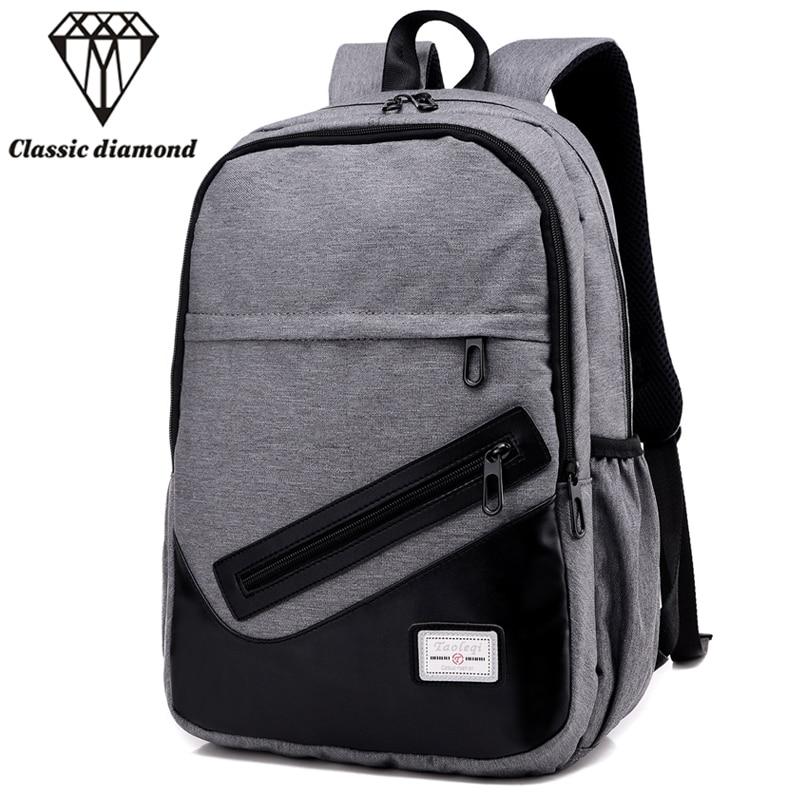 Fashion Men's Backpack Men Nylon Backpacks School Bags For Teenagers Casual 15.6 inch Laptop Bag Male Daypacks Rucksack Mochila dtbg laptop backpack for men women s 15 15 6 inch backpacks for apple mackbook waterproof nylon school travel bags notebook bag