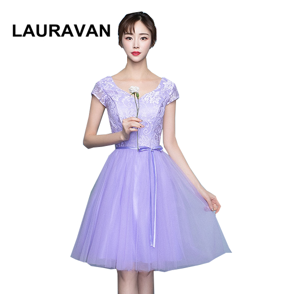 gorgeous sleeved robe de soiree elgant beautiful light purple party   bridesmaid     dress   for teen occassion   dresses   ball gown