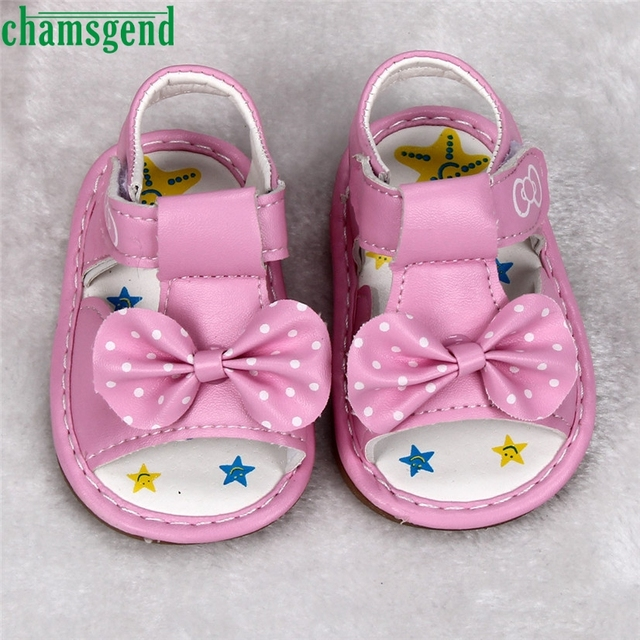 CHAMSGEND cute hot Summer Style Cute Beauty Kid Toddler New Bowknot Girls  Printed Soft-Soled Baby Shoes S35 st4 fe386e1ccd1c