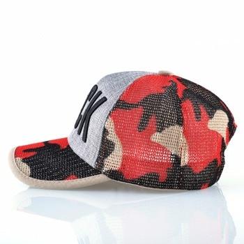 Summer Mesh Baseball Cap Women Fashion ROCK Letter Hat For Men Cotton Linen Snapback Hip Hop Casquette Trucker Bone Drake Gorras 2