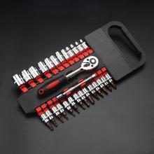 28 stuks Auto 1/4 Inch Ratelsleutel Socket Release Extension Bar Reparatie Tool Set
