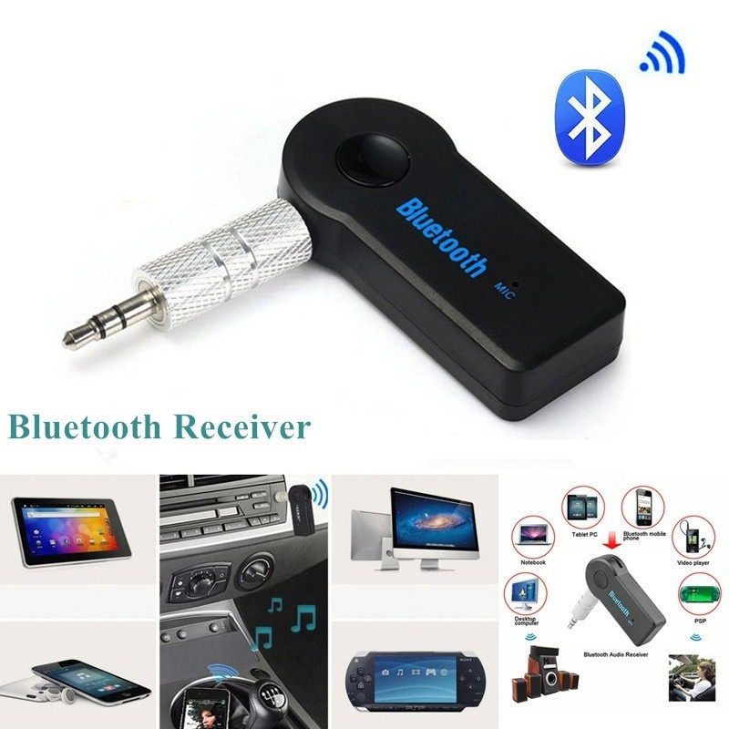 AUX Audio Bluetooth Receiver 3.5mm Wireless Receiver Adapter Music For Car Speaker Headphone Bluetooth Adapter Hands Free bc07 vehicle bluetooth audio receiver hands free adapter black