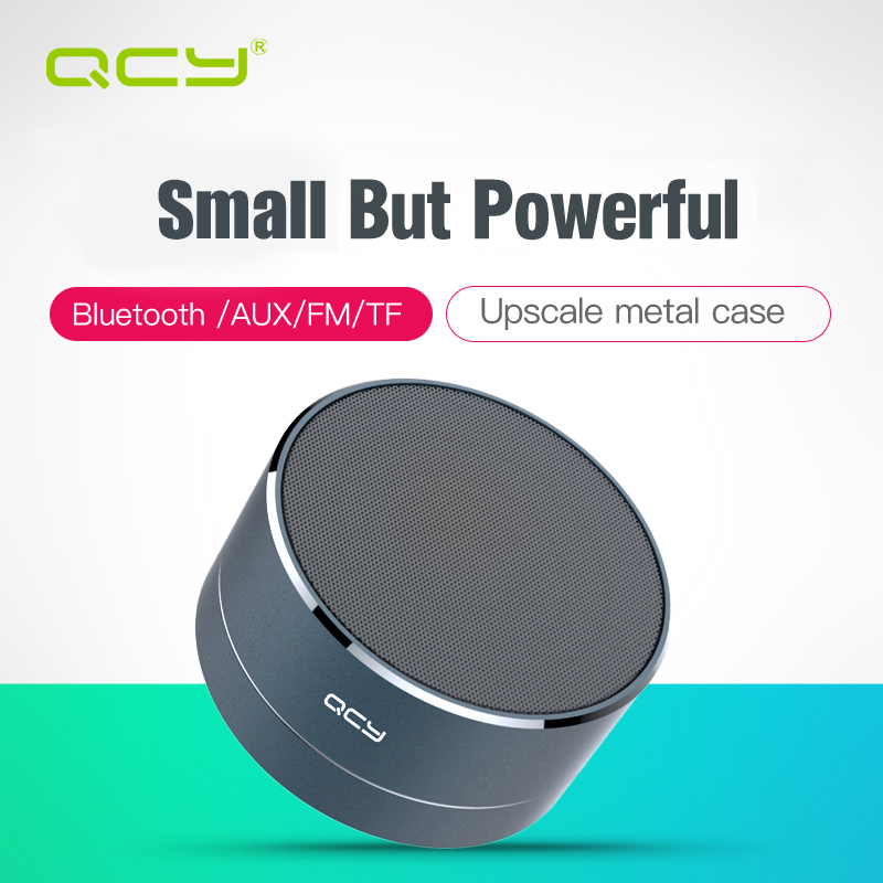 QCY A10 Simply Wireless Bluetooth Speaker Outdoor Minimal Art Aluminum Anode support TF card with Microphone for Iphone Android