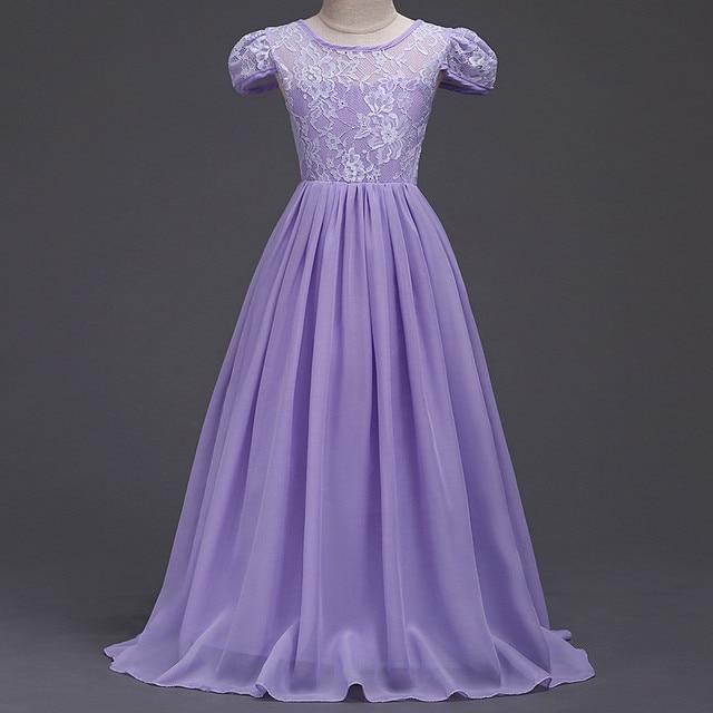 8b76fd6d3 Children s Wedding Dresses Chiffon Princess Long Dress To The Floor ...