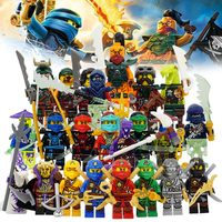 Building Blocks Compatible With LegoINGlys NinjagoINGlys Sets NINJA Heroes Kai Jay Cole Zane Nya Lloyd Weapons