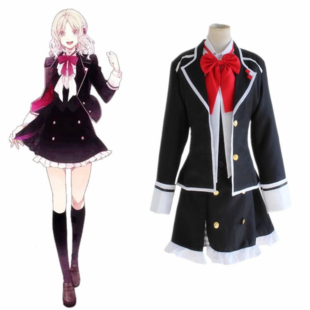 DIABOLIK LOVERS Komori Yui School Uniform Dress Outfit Anime Cosplay Costumes