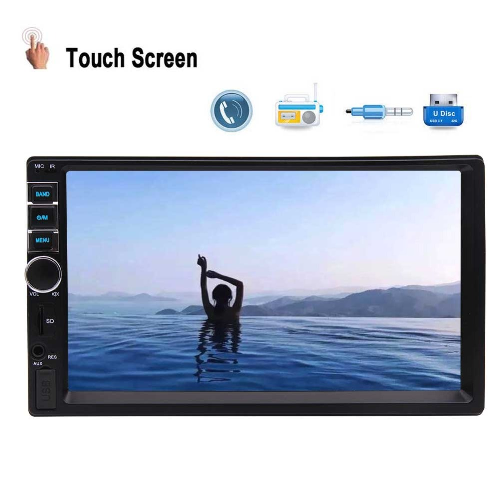 Receiver Support Video/AUX/Steering Wheel Control & 8GB Map Card Stylish Bluetooth Car Stereo System 7 Inch HD Touch Capacitive