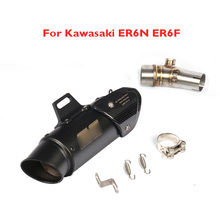 ER6N ER6F Motorcycle Exhaust Pipe System Modified Link Slip on for Kawasaki 2012-2016