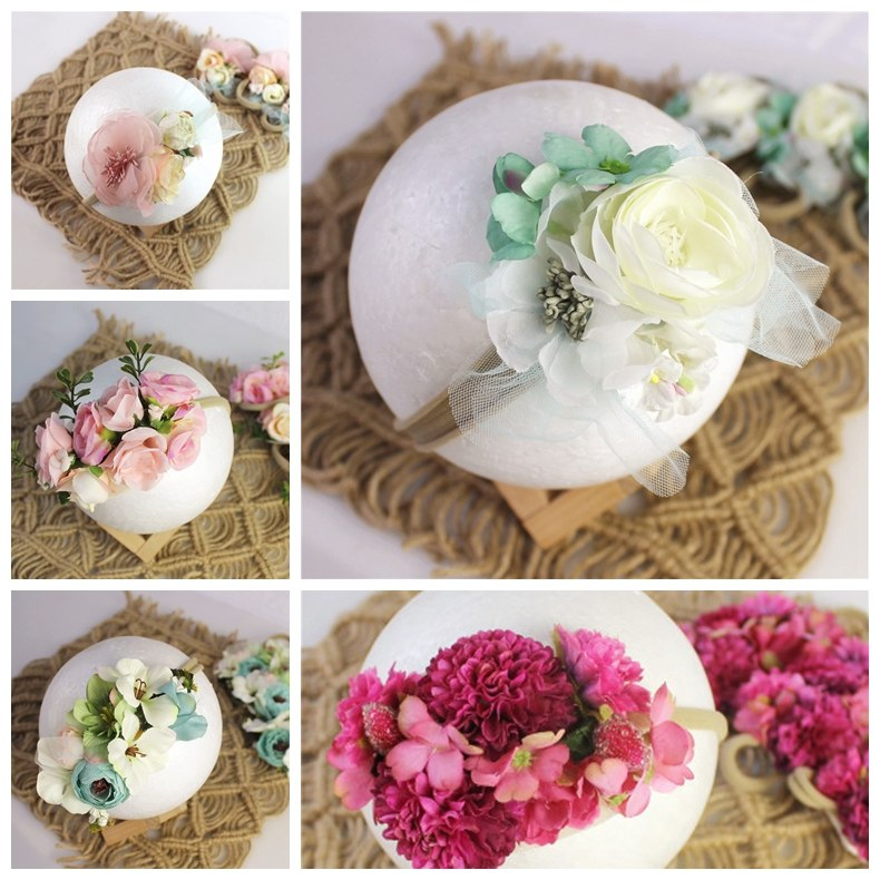 Baby photography headband baby girl  hand-made headwear floral photo shooting accessories newborn photography props