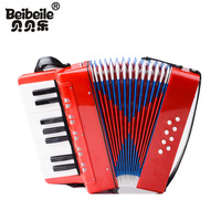 Boy and girl musical instrument beginner 17 key ABS environmental protection material accordion keyboard toy gift