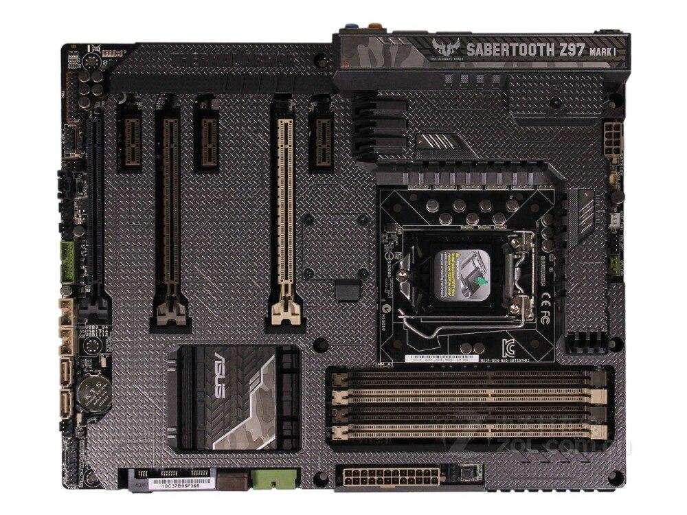 все цены на Desktop Motherboard Asus SABERTOOTH Z97 MARK 1 Z97 Socket LGA 1150 i7 i5 i3 DDR3 32G SATA3 ATX