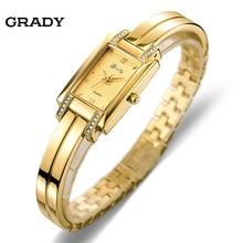 Nueva Marca de Grady manera 18 k chapado en Oro mujeres relojes 3atm impermeable Reloj de Cuarzo damas Relojes de Las Mujeres relogio masculino
