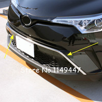 For Toyota C HR 2016 2017 Car Styling Exterior Stainless Chrome Front Upper Bumper Skid