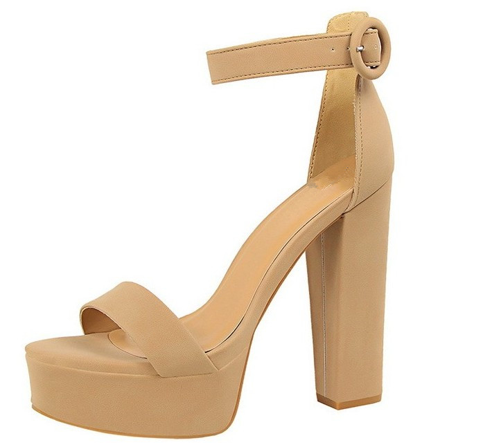 HTB1jFpodsLJ8KJjy0Fnq6AFDpXaR Brand Elegant sandals Women High Heels Pumps Super high heel 13cm Women's Banquet sandals waterproof platform toe sandals