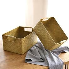 Cesta de almacenamiento de algas Vintage A1, cesta de almacenamiento de artículos de escritorio para cocina y baño, cesta de almacenamiento para guardarropa wx11011100