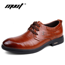 MVVT Split Leather Men Oxfords Shoes Fashion Simple British Gentleman Casula Comfortable Flats