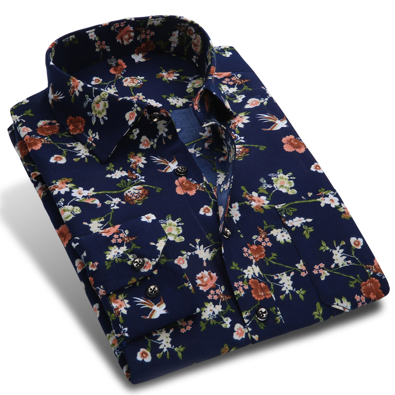 New 2018 Spring Men Casual Shirts Fashion Long Sleeve Brand ...