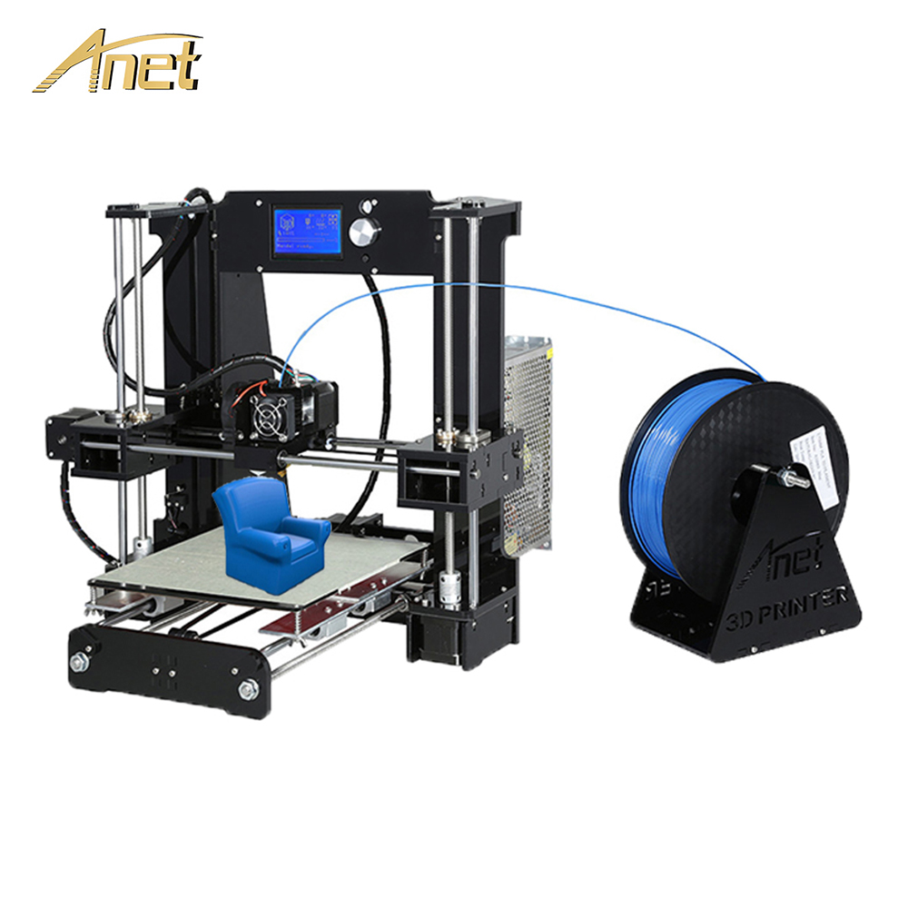 Anet A6 A8 Auto Leveling A8 3d printer High precision Update Control board Reprap Prusa i3 3D Printer Kit DIY with PLA Filament aluminum prusa i3 3d printer diy kit et i3 board lcd 12864 with 8 in 1 3d printer control box 3d filament 1kg