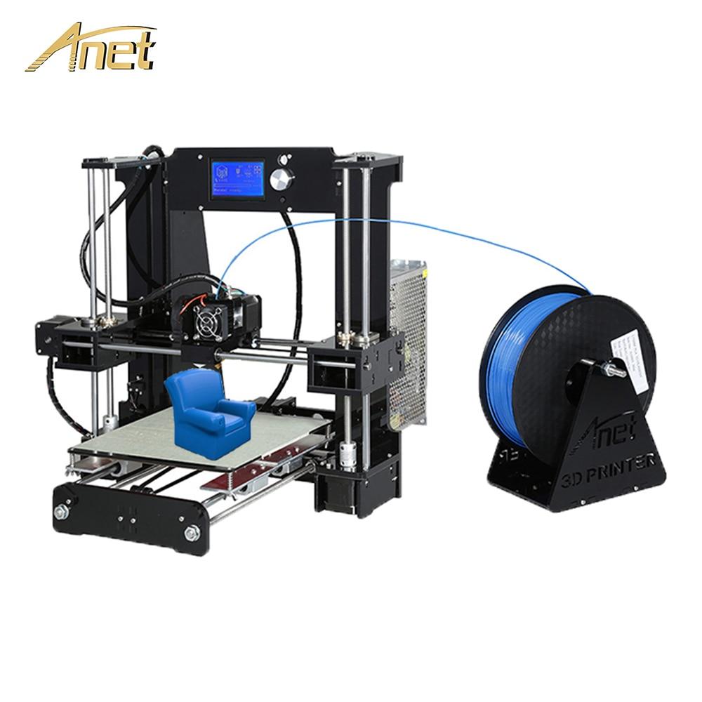 Anet A6 A8 di Livellamento Automatico A8 stampante 3d di Alta precisione di Aggiornamento scheda di Controllo Reprap Prusa i3 3D Stampante Kit FAI DA TE con PLA Filamento