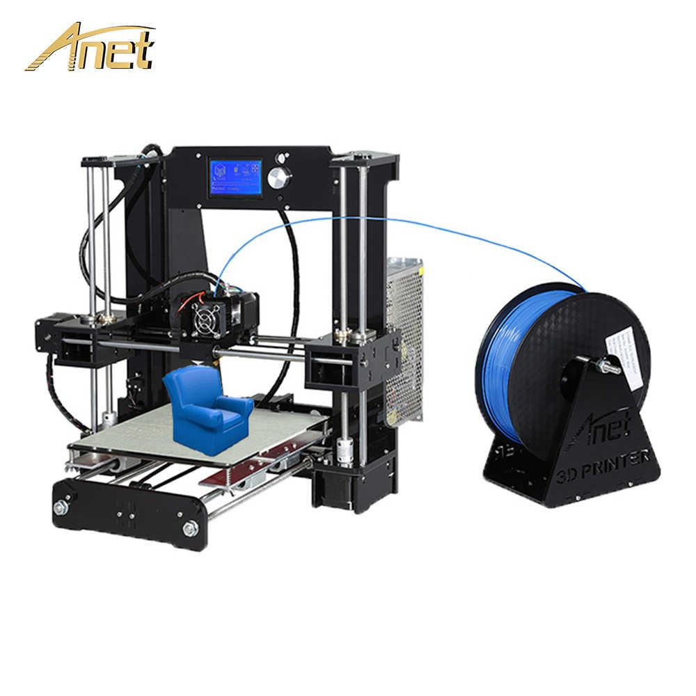 Anet A8 A6 السيارات مستوى A8 3D مجموعة الطابعة عالية الدقة مجلس Reprap Prusa i3 FDM 3D طابعة DIY imprimante 3D مع PLA خيوط