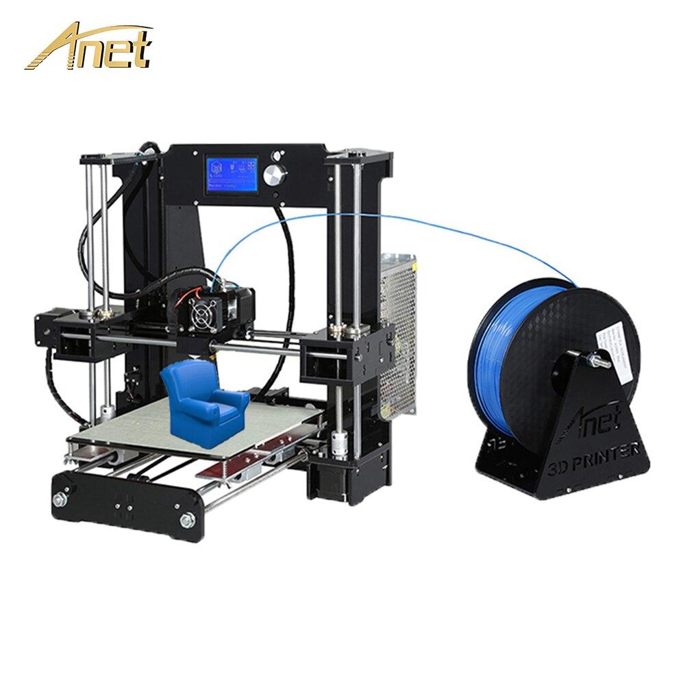 Anet A8 A6 Auto Niveau A8 3D imprimante Kit Haute Précision Conseil Reprap Prusa i3 FDM 3D imprimante DIY imprimante 3D avec PLA Filament