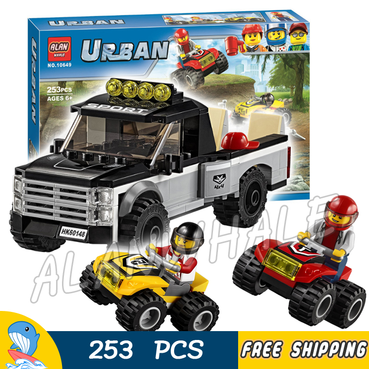 253pcs City Great Vehicles ATV Race Team Model Building Blocks 10649 Assemble Karting Br ...