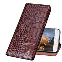 QH04 Crocodile pattern genuine leather phone bag for Samsung Galaxy J4 2018 phone case for Samsung Galaxy J4 2018 flip case