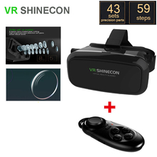 Shinecon VRแว่นตา3DของG Oogleกระดาษแข็งจริงเสมือนชุดหูฟังO Culus riftหัวหน้าเมาVRกล่อง2.0ภาพยนตร์สำหรับ3.5-6.0 'มาร์ทโฟน