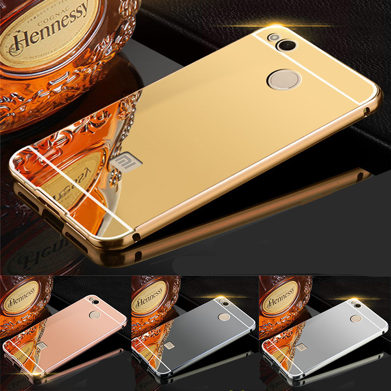 the best attitude 2f704 b709d Xiaomi Redmi 4x case cover Redmi 4x back case hard coque phone Luxury Gold  Mirror Cases Red mi 4x ...