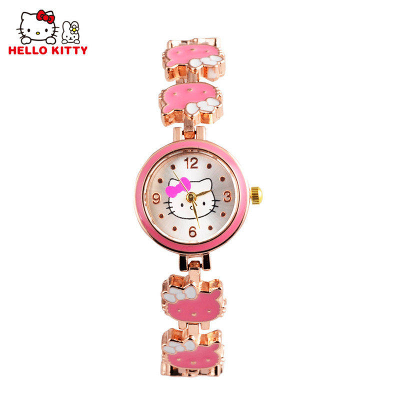 Kids Hello Kitty Watches Children Cartoon Watch Fashion Cute Bracelet Girl Wrist Watch Hour Gift montre enfant relogio infantil cartoon children watches fashion girl bear pattern kids waterproof watch cute student leather strap wrist watch relogio