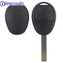 jingyuqin 2 Buttons Uncut Blade Remote Car Key Case Shell Fob Key Cover For BMW Mini Cooper R50 R53 Alarm Systems Security