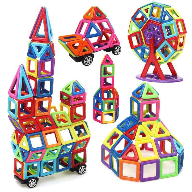 MylitDear 158 pcs Big Size Magnética Blocos de Construção Educacional Set Models & Toy Building ABS Ímã Presente Dos Miúdos Designer