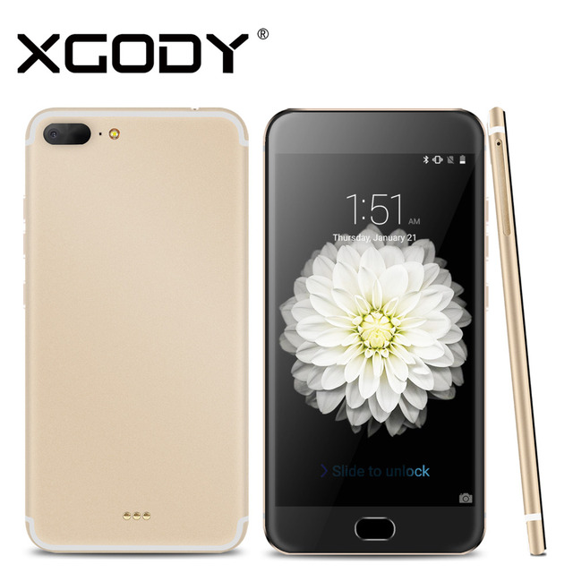 Original xgody smartphone de 5.5 pulgadas 1 gb ram 8 gb rom con cámara de 8mp quad core android 5.1 3g teléfono móvil