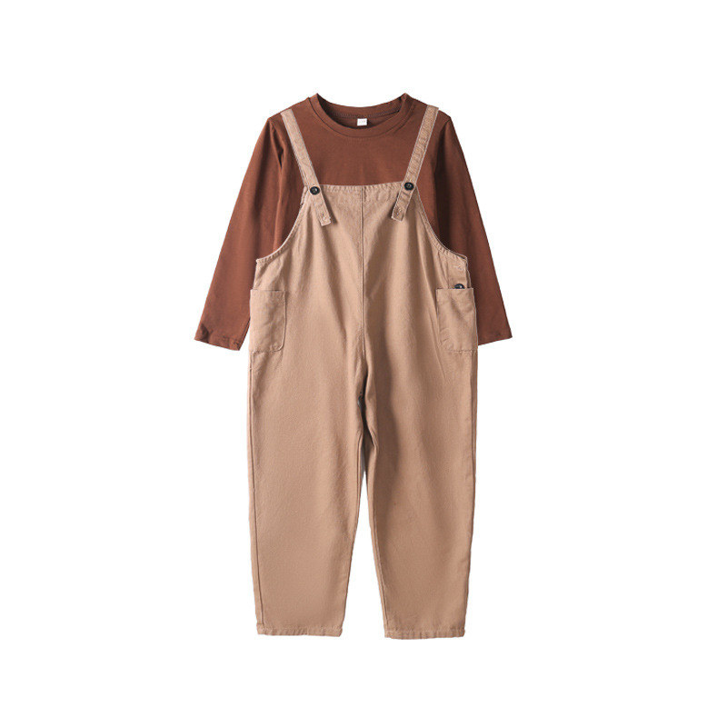 Children's Set For Girls 2018 Fashion Child Autumn Long Shirt Overalls Pants Children Girl Cute Princess Clothing Spring Wear 2016 spring new fashion korean lace children clothing for cute kids girls ballet girl ruffle bottoming princess shirt