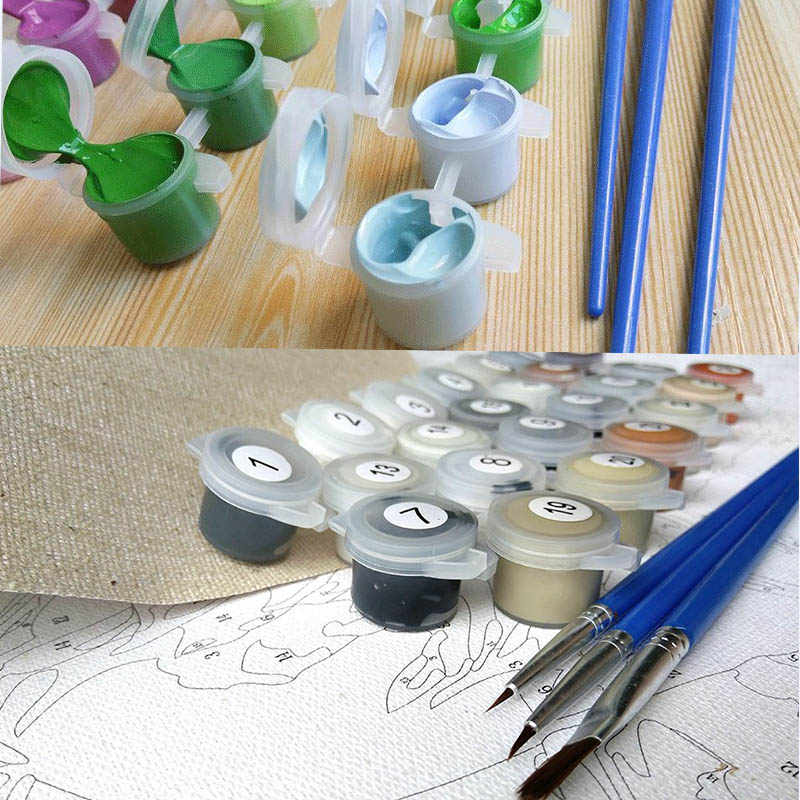 DIY Painting by Numbers on Canvas Painting Calligraphy for Living Room Wall by Numbers Drawing Pictures Poster Abstract P-0039