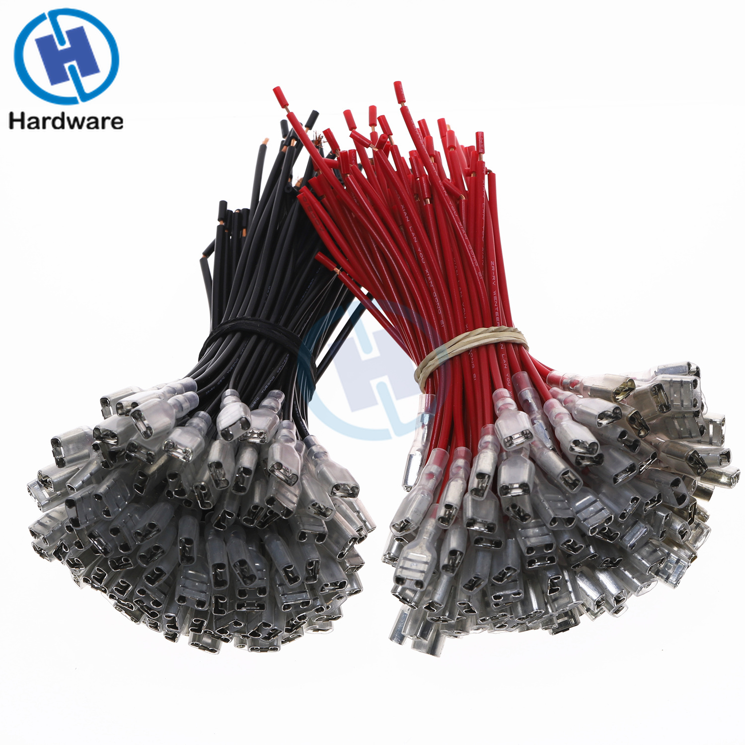 10Pcs Red Black 0 5mm2 Cable Wire Pressure Terminal Connector 2 8mm 4 8mm 6 3mm Plug Spring in Connectors from Lights Lighting