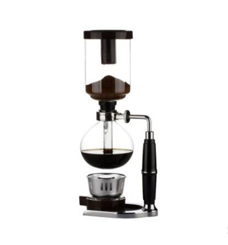 Japanese Style Siphon coffee maker Tea Siphon pot vacuum coffeemaker glass type coffee machine filter 3cup D050