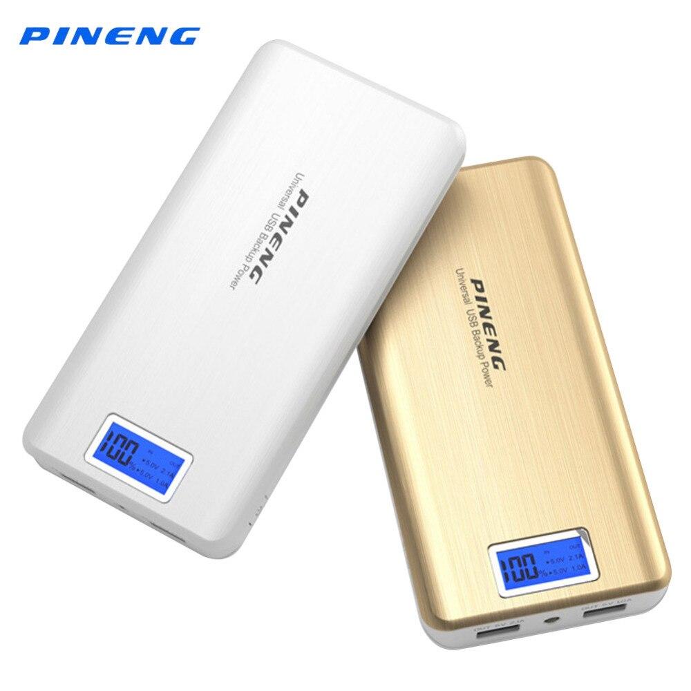 bilder für Pineng PN999 Energienbank Original 20000 mAh Li-polymer-akku LCD Display Dual Tragbaren Usb-ladegerät Power Bank für Smartphone