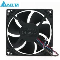 Original Delta AUB0812H E ROO 12V 0.3A 8CM 3 wire projector axial cooling fan 3000RPM 35CFM