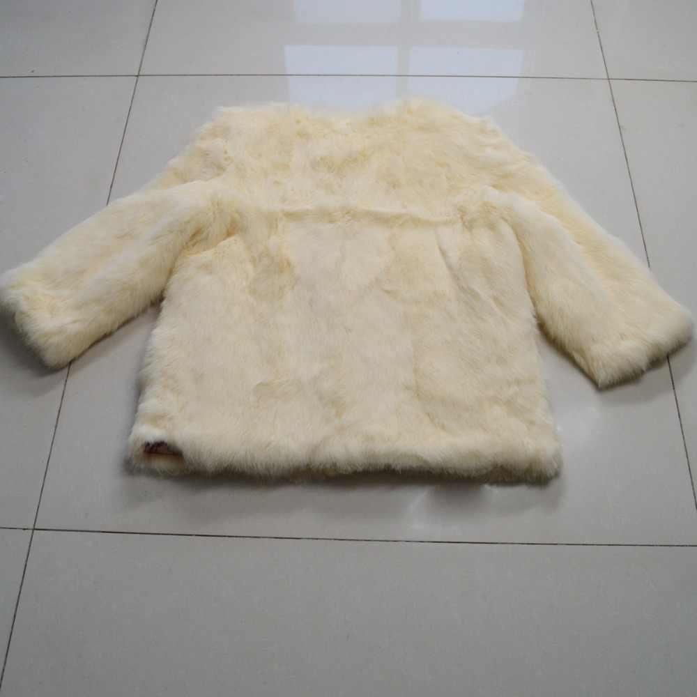 Nóng Pin Phụ Nữ Thật Thời Trang Lông Thỏ Áo Khoác Mùa Đông Ấm Áp Chính Hãng Lông Thỏ Áo Khoác 2019 Mới cho Nữ 100% Tự Nhiên Thỏ bộ lông Khoác Ngoài