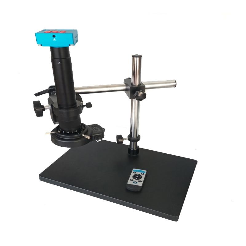 30MP 2K 1080P HDMI Digital USB Video Microscope Camera 180X 300X C Mount lens 144 Led