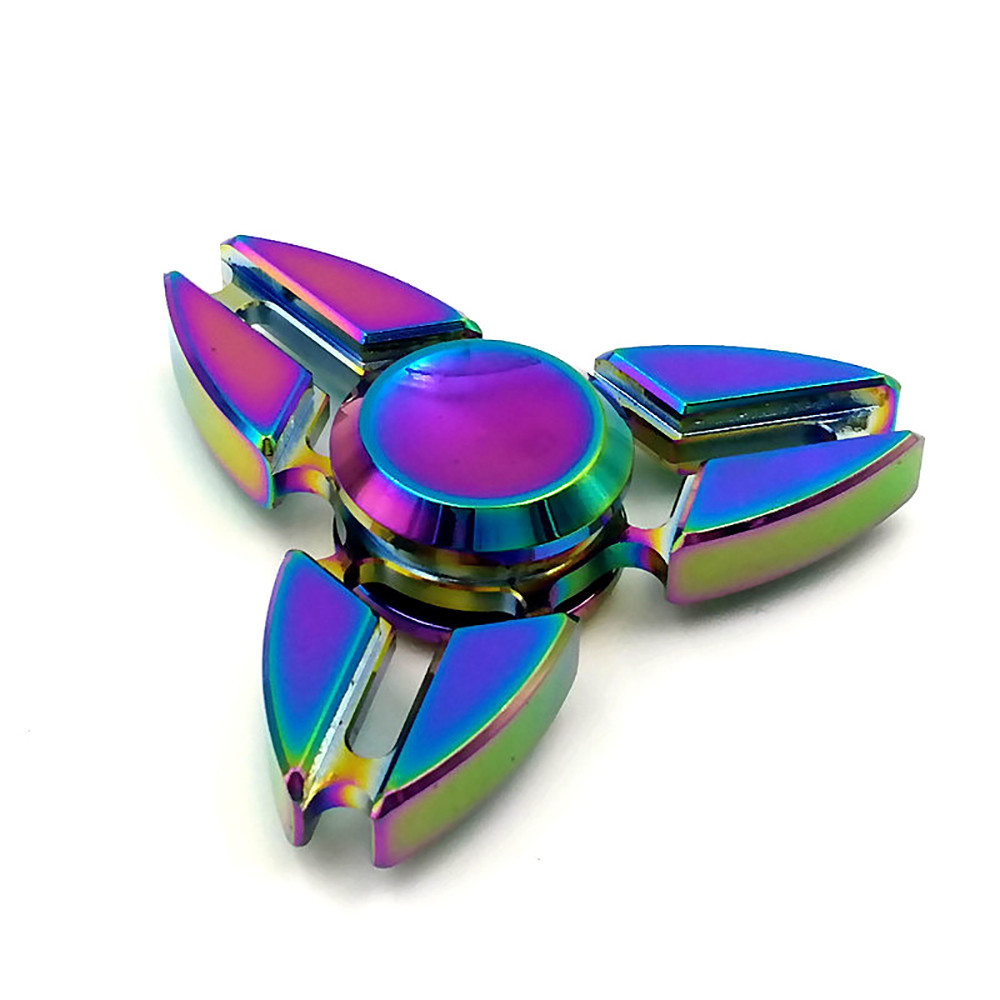 Spinning Top Tri Fidget Hand Spinner Triangle Alloy Finger Toy EDC Focus ADHD Autism Hand Spinner