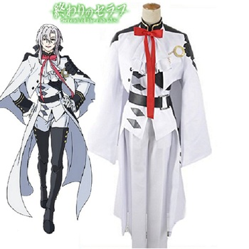 High-Q Unisex Anime Cos Seraph of the end Ferid Bathory Cosplay Costume Army Suit Sets