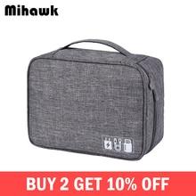 Mihawk Waterproof Digital Bags Travel USB Cable Tote Hard Di